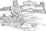 kleurplaten nt de doop jezus kleurplatendatabase