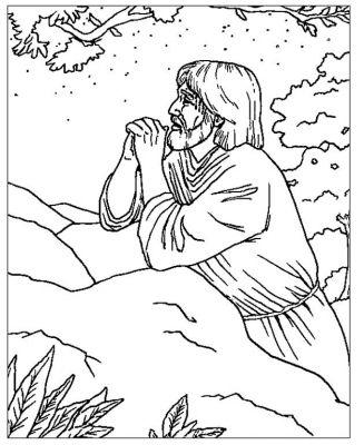 Kleurplaten Nt Jezus Bidt Kleurplatendatabase